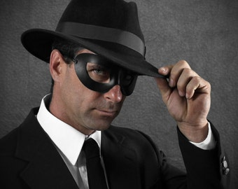Incognito Leather mask in black size M/L