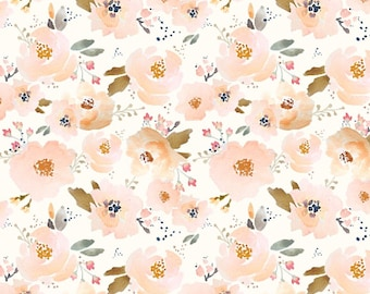 Baby Blanket Peachy Blossoms. The Cloud Blanket. Faux Fur Baby Blanket. Minky Baby Blanket. Blush Floral Baby Blanket.