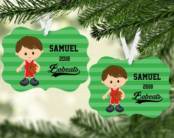 Personalized Basketball Ornament/kid's basketball/personalized/keepsake ornament/Christmas Ornament/Basketball team/Basketball player/gift