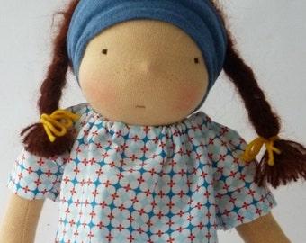 """Jul - Doll, 33cm /13"""", Waldorf doll, cuddle doll, doll girl"""