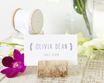 Cute Rustic Place Card Template, Printable Escort Cards, Handwritten, Word or Pages, Mac or PC, Instant DOWNLOAD