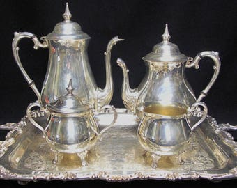 Beautiful Sheridan Taunton Silver Plated Coffee Tea Set : silver plate set - Pezcame.Com