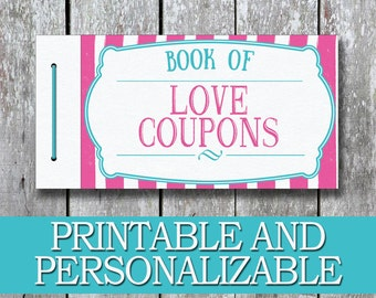Printable kids coupon book kids reward coupons diy birthday for Last minute diy birthday gifts for dad