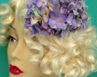 Belle's Purple Hydrangea Side Comb