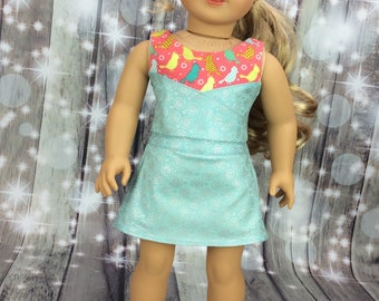 18 inch doll clothes top and slort to fit american girl size dolls, Summer doll clothes, preppy clothes
