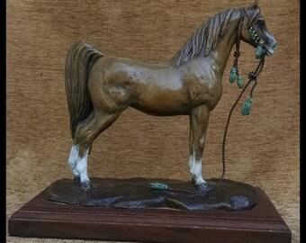 Arabian Horse Bronze Sculpture   Bronze Horse Sculpture   Bronze Arabian Horse Sculpture