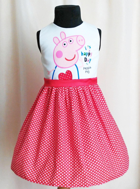 Birthday Peppa Pig Dress Polkadot Peppa Dress Peppa Pig # Muebles De Peppa Pig