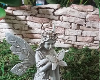 Fairy Garden Miniature Fairy For Your Fairy Garden, Garden Fairy, Garden  Pixie, Pretty Sitting Fairy, Fairy Statue
