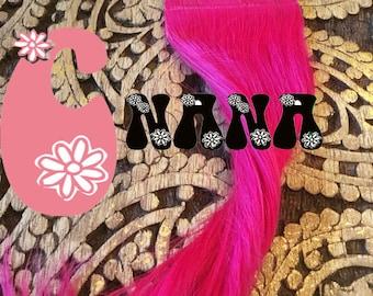 "Rose Fushia tape human hair Extensions hair extension, band, hair Extensions, 15 """