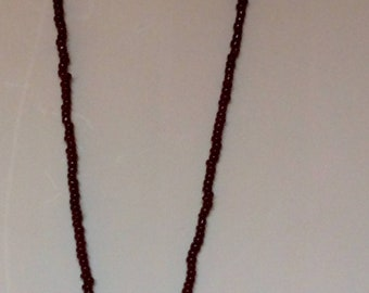 Beaded bear pendant necklace