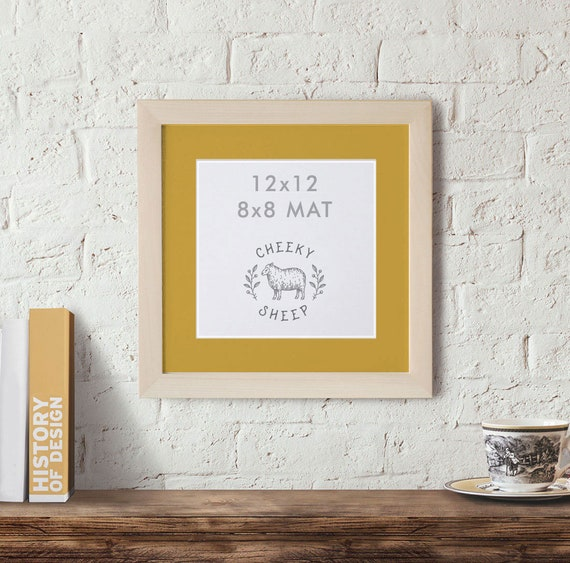 12x12 frame with 8x8 Mat, Unfinished Wood Frame, 8x8 Mat, Wedding ...