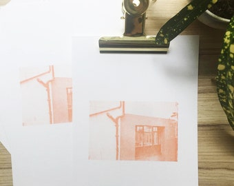 Screenprinted photo series - printed onto A5 paper (Approximately) Cribbs Falmouth