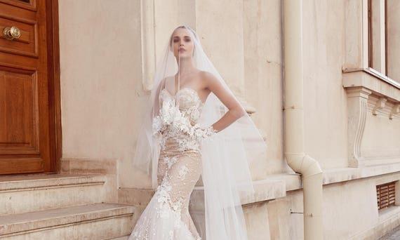 Mermaid Brautkleid trägerlosen Low zurück Sweetheart