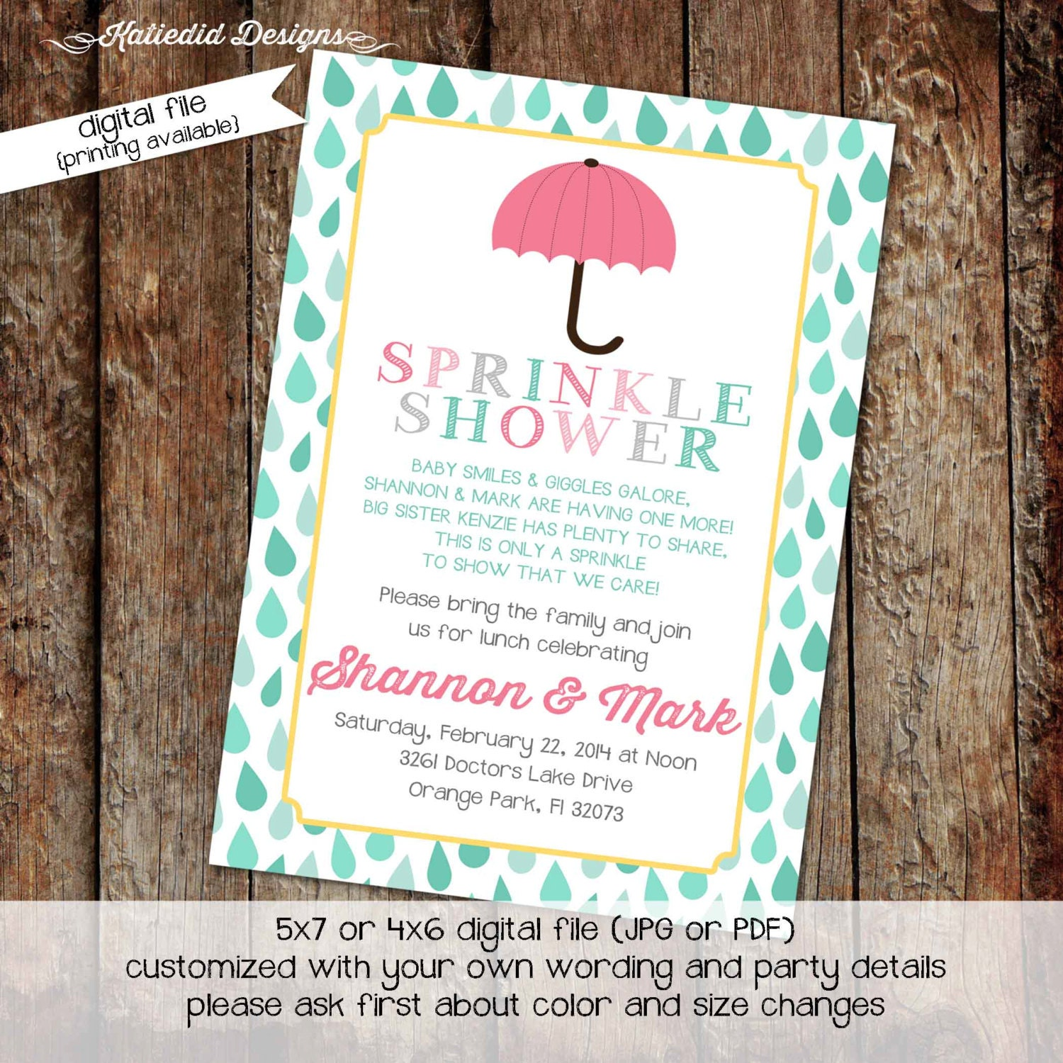 shower with love invitation surprise gender reveal diaper wipe ...