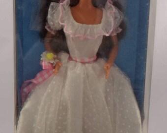 Vintage Brunette Country Bride Barbie Walmart Exclusive #13616/Antique Country Bride Barbie/Brunette Wedding Dress Barbie/Collectible Gift