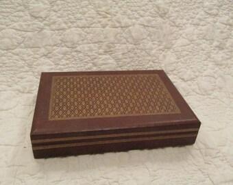 Vintage Mens Swank Box or Valet Leatherette outside finish SALE