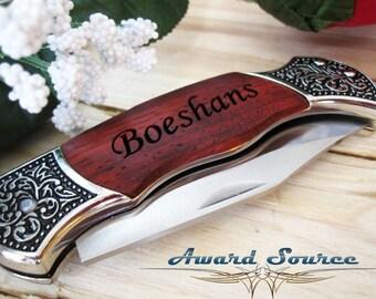 8 Pocket Knife Groomsmen Engraved Pocket Knife  - Groomsman Best Man Ring Bearer Gift