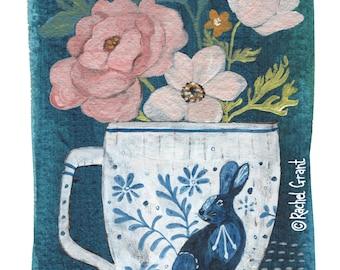 Rose Teacup Print