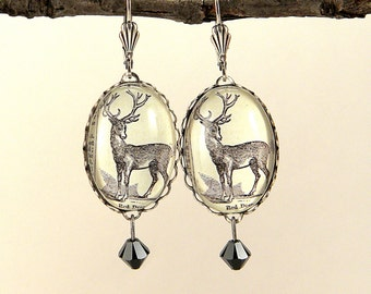 Into The Woods with Uncle Buck SIlver Earrings