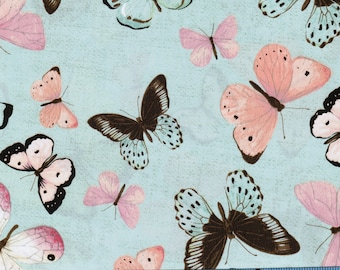 Botanical Buzz Butterfly by Steele Creek Studio, 100% Cotton Fabric by the Yard,Quilting,Apparel Fabric,Home Decor,Craft Projects,Springtime