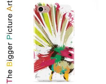 Phone Case Bird. Fantail Bird. New Zealand Painting of a native fantail bird. Samsung and iPhone case