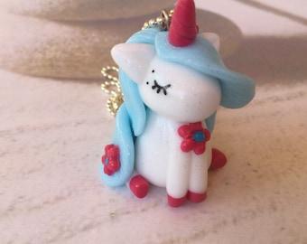 Baby Blue Unicorn necklace