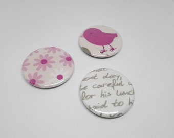 Set of 3 magnets fabric 37mm