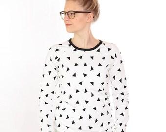 "Sweater ""Pauline"" white Triangle"
