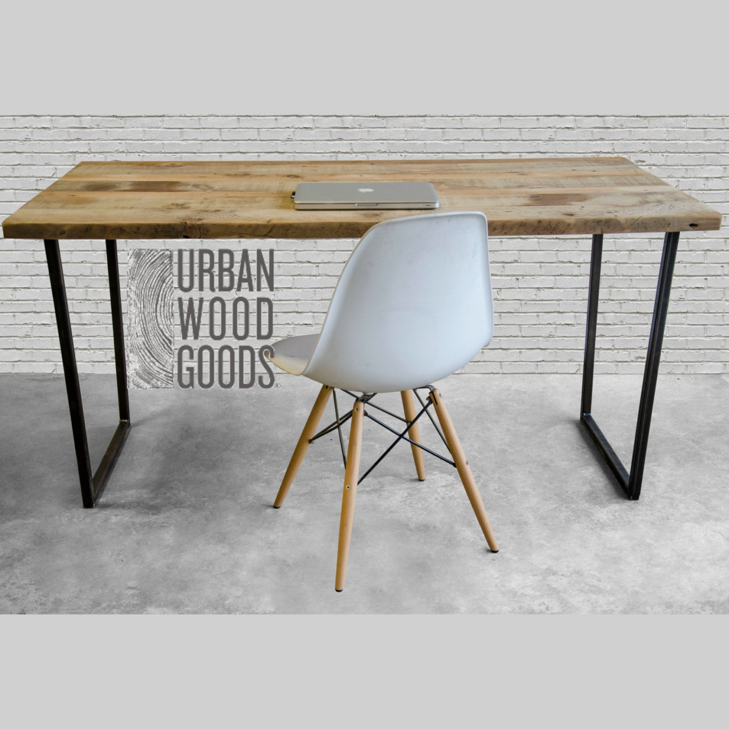 Modern Urban Wood Desk Reclaimed Office With