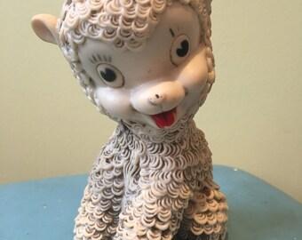 Vintage Lamb Rubber Squeak Toy