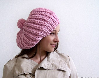 Knitting PATTERNS, Knit Hat Pattern Chunky Hat Pattern Chunky Knitting Pattern Slouchy Beanie Pattern Slouchy Hat Pattern Slouch Hat Pattern