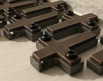 Copper/ Titanium Cross Necklace Pendant