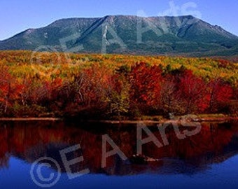 Mt Katahdin Baxter State Park View from Abol Stream Panoramic Photography Maine Photographer Paul Vose MADE IN USA
