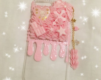 Kawaii Korilakkuma ready to ship half whip iPhone 7+/8+ decoden case