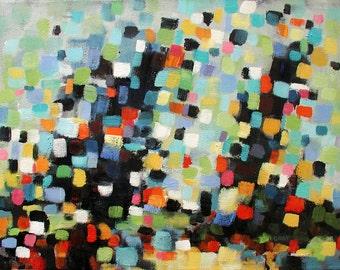 "Original Abstract Painting, Abstract Wall Art, Colorful Painting, Modern Abstract Art, Original Artwork 12""x16"""