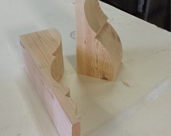 Plain hand cut corbels/brackets from reclaimed timber