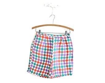 Polka Dot Shorts / 60s 50s High Waisted Shorts