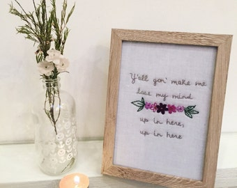Y'all Gon' Make Me Lose My Mind (DMX Lyrics) - Embroidery Humor