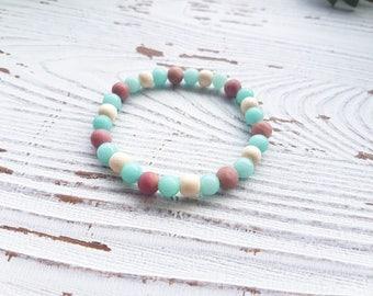 Essential oil bracelet, diffuser bracelet, amazonite bracelet, essential oil jewelry for women, wood bracelet, aromatherapy bracelet