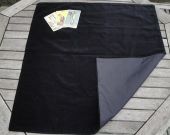 Large Tarot, Oracle, Rune Reading Cloth / Spread Cloth in Cotton Velvet with Cotton Lining - Made to Order - choice of colours
