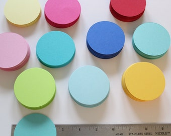 "300 Card Stock Die Cut Circles 2.5"" Size, Craft Supplies, Gift Tags, Favor Tags, Place Cards, DIY Garland, Scrapbooking"