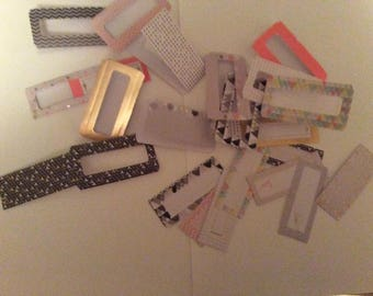 Lots of 6 door tags and matching tags