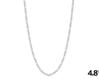Men's Necklace - Men's Chain - Figaro Chain - 316L Stainless Steel Necklace - 4.8mm Figaro Necklace - Steel Necklace - Men's Jewelry - Metal