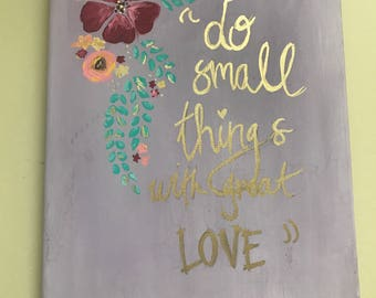 Quote Canvas Painting