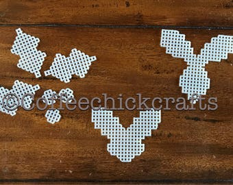 Holly Leaf Plastic Canvas Cut Out Your Choice Plastic Canvas Holly Leaves and Berries for Needlepoint  Christmas
