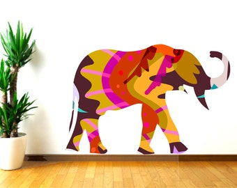 Nursery Elephant Decals, Animal Wall Decal, Elephant wall sticker, Safari Wall Decor, Elephant Wall Decor, Kids Wall Decal, Gift for kids,
