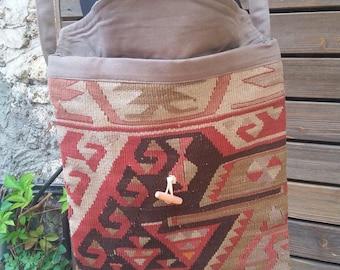 VINTAGE KILIM BAG ....Turkish handmade