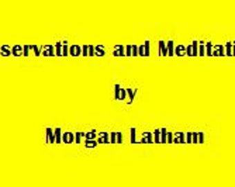 Observations and Meditations eBook