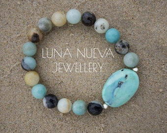 Marina bracelet - Genuine Amazonite
