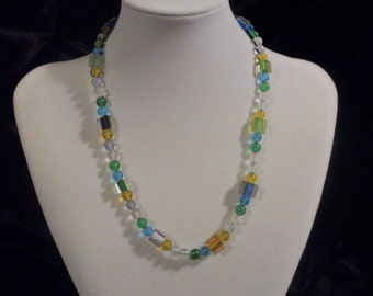 Green, Blue, and Yellow Necklace